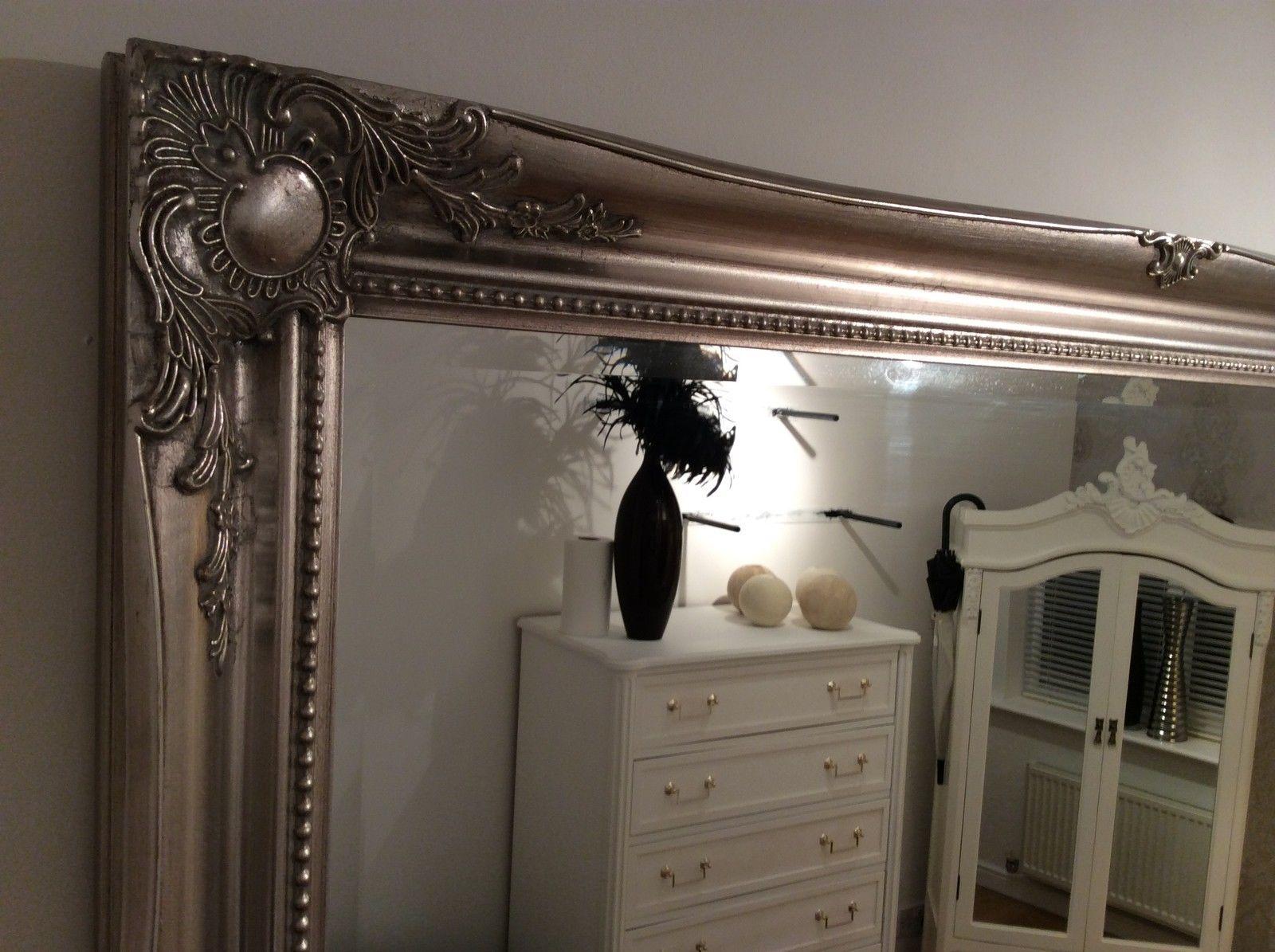 Antique Silver Decorative Wall Mirror 36inch X 26inch 91cm